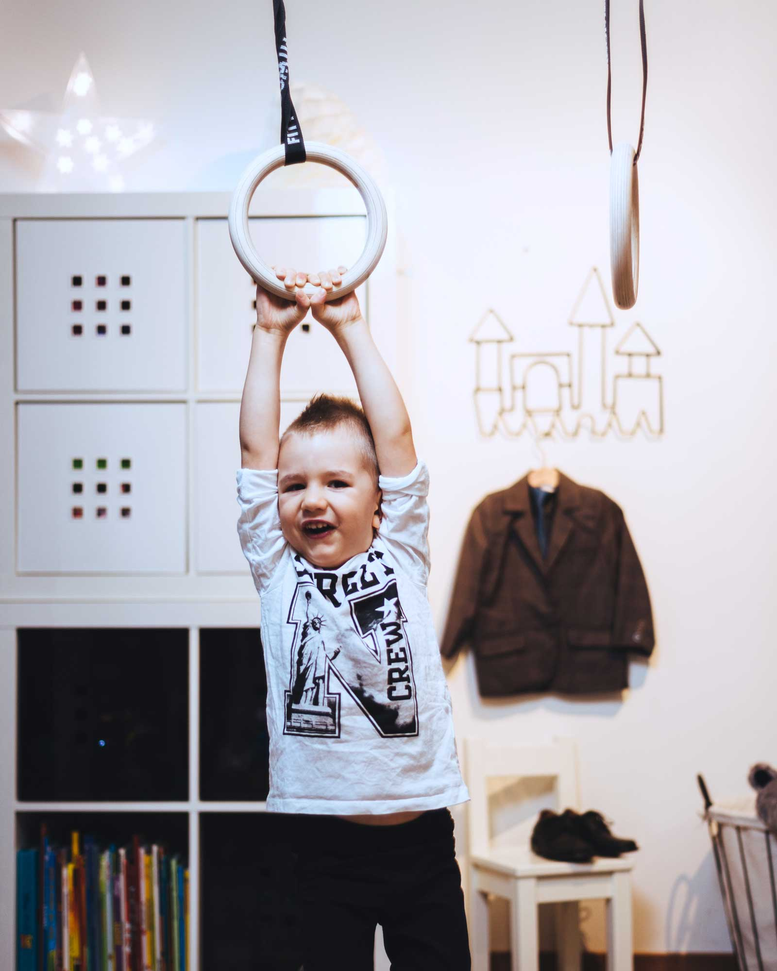 FitWood Gym Rings for Kids: 1 piece of fitness kit, 5 ways to have fun with it